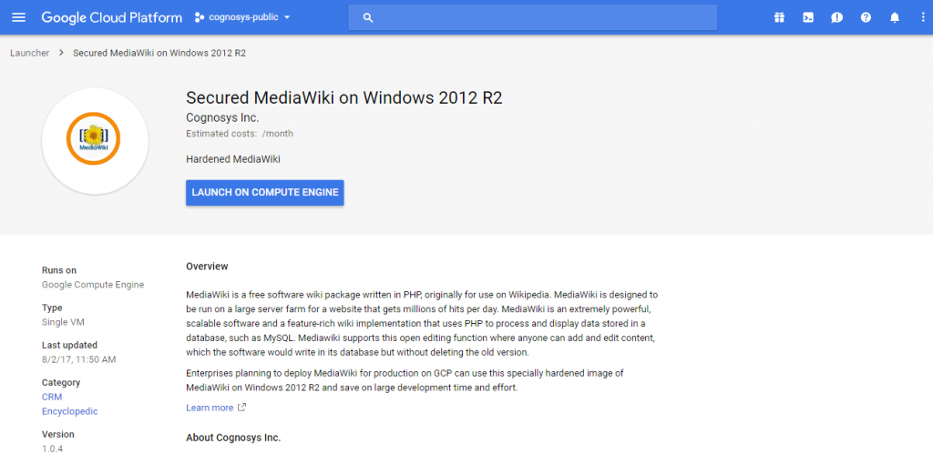 launch mediawiki on cloud on windows for aws azure google cloud