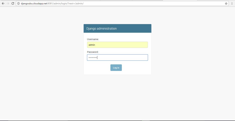 enter credentials to login