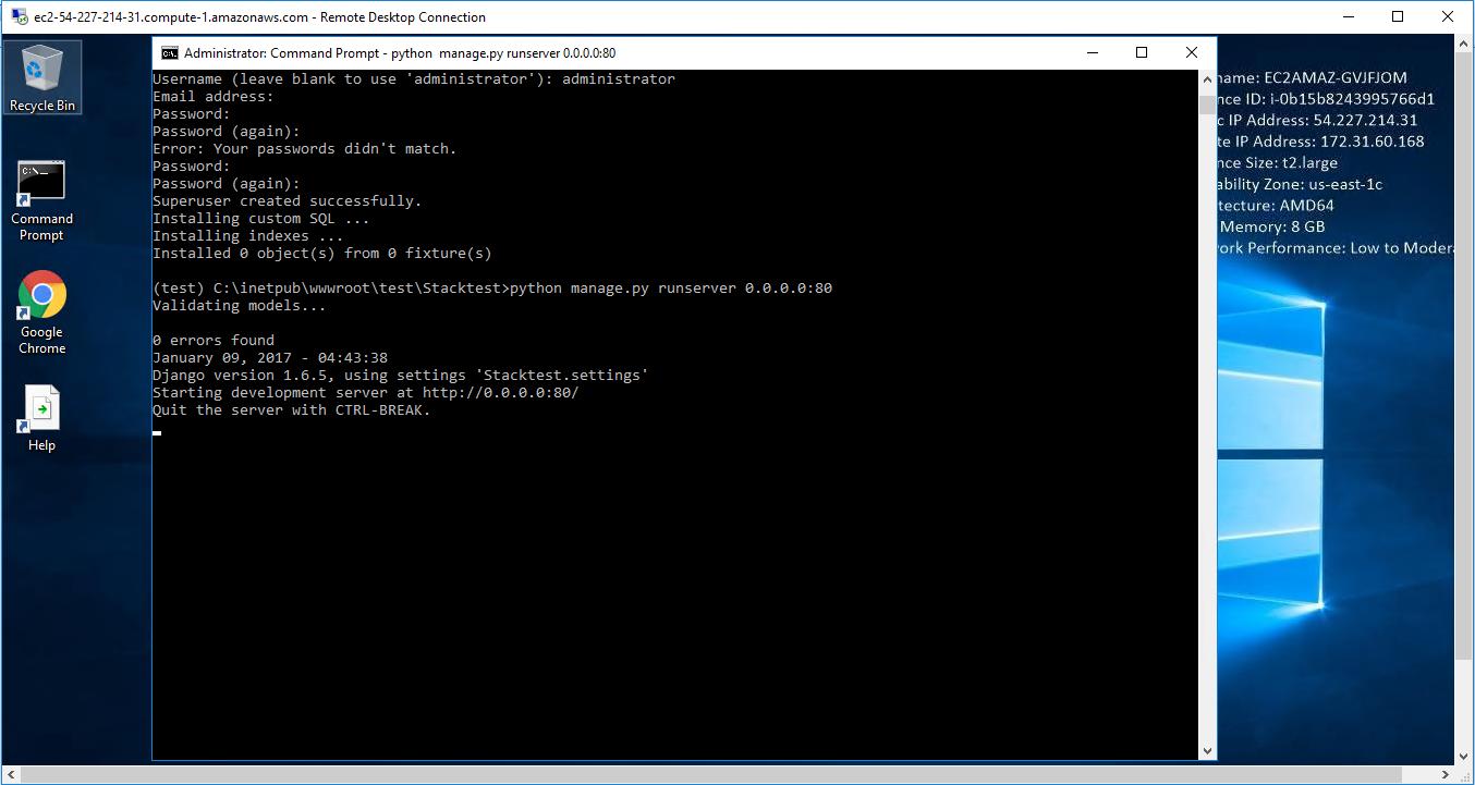 enter - python manage.py runserver