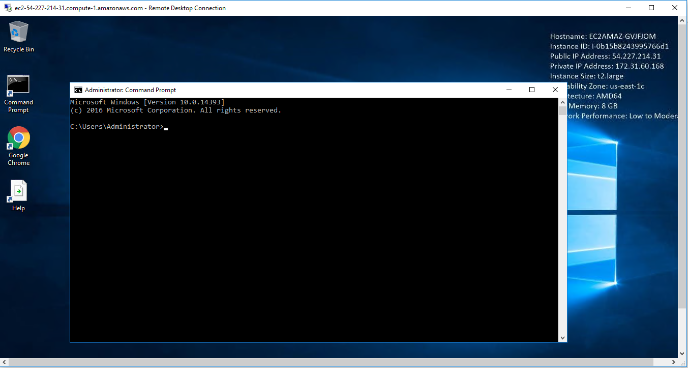 open command prompt and choose project path