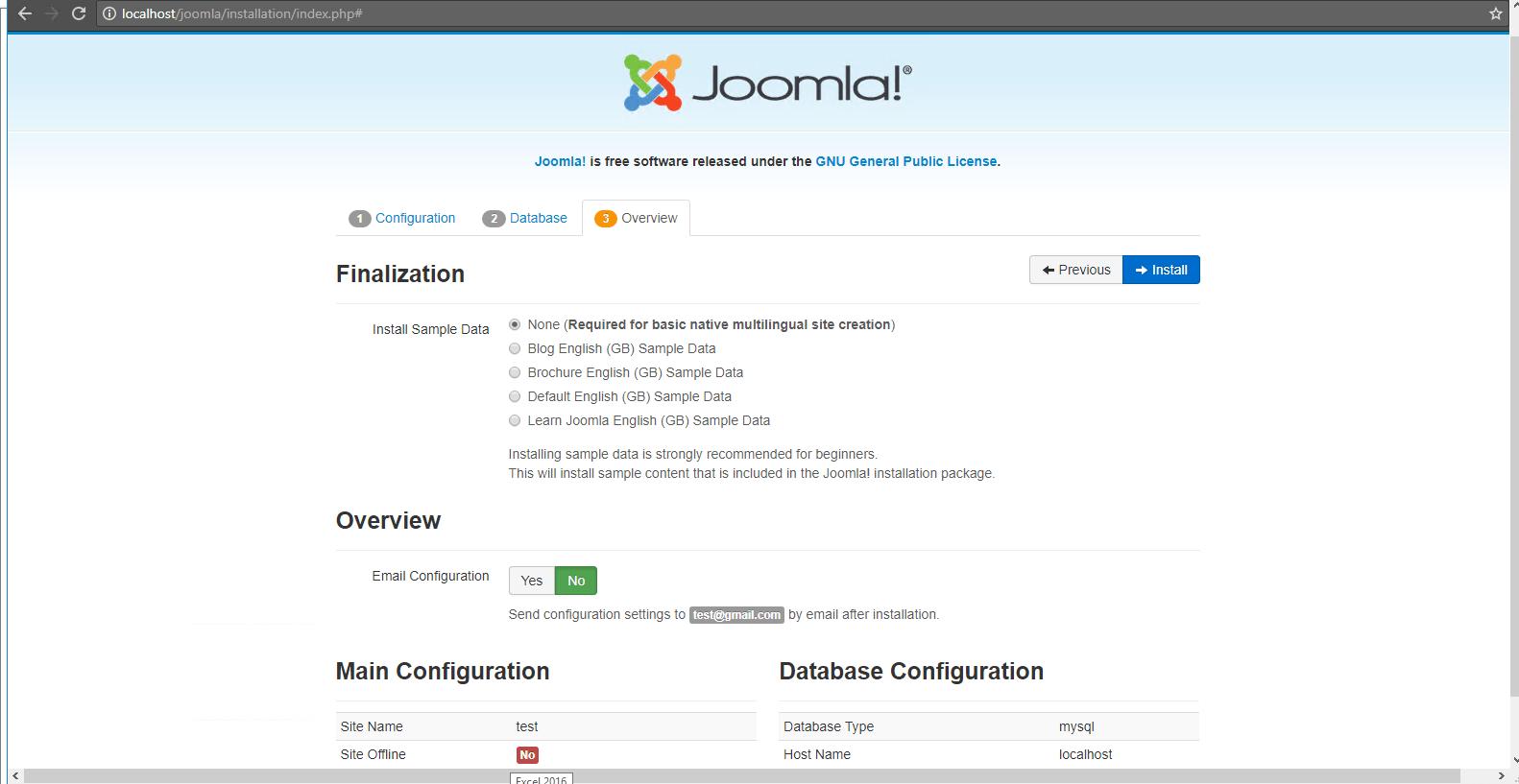overview configuration details