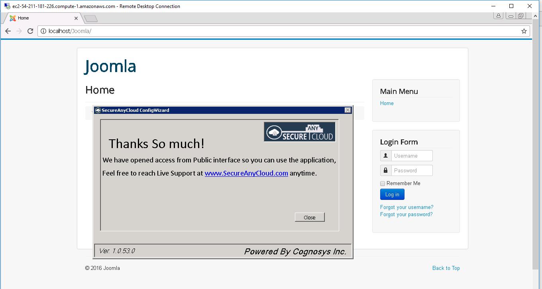 7.home page of joomla dashboard