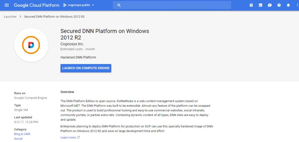launch dnn platform on windows