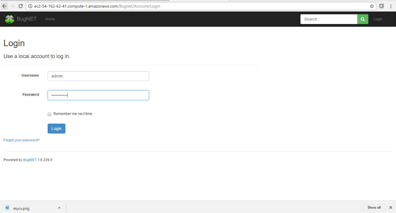 enter login credentials