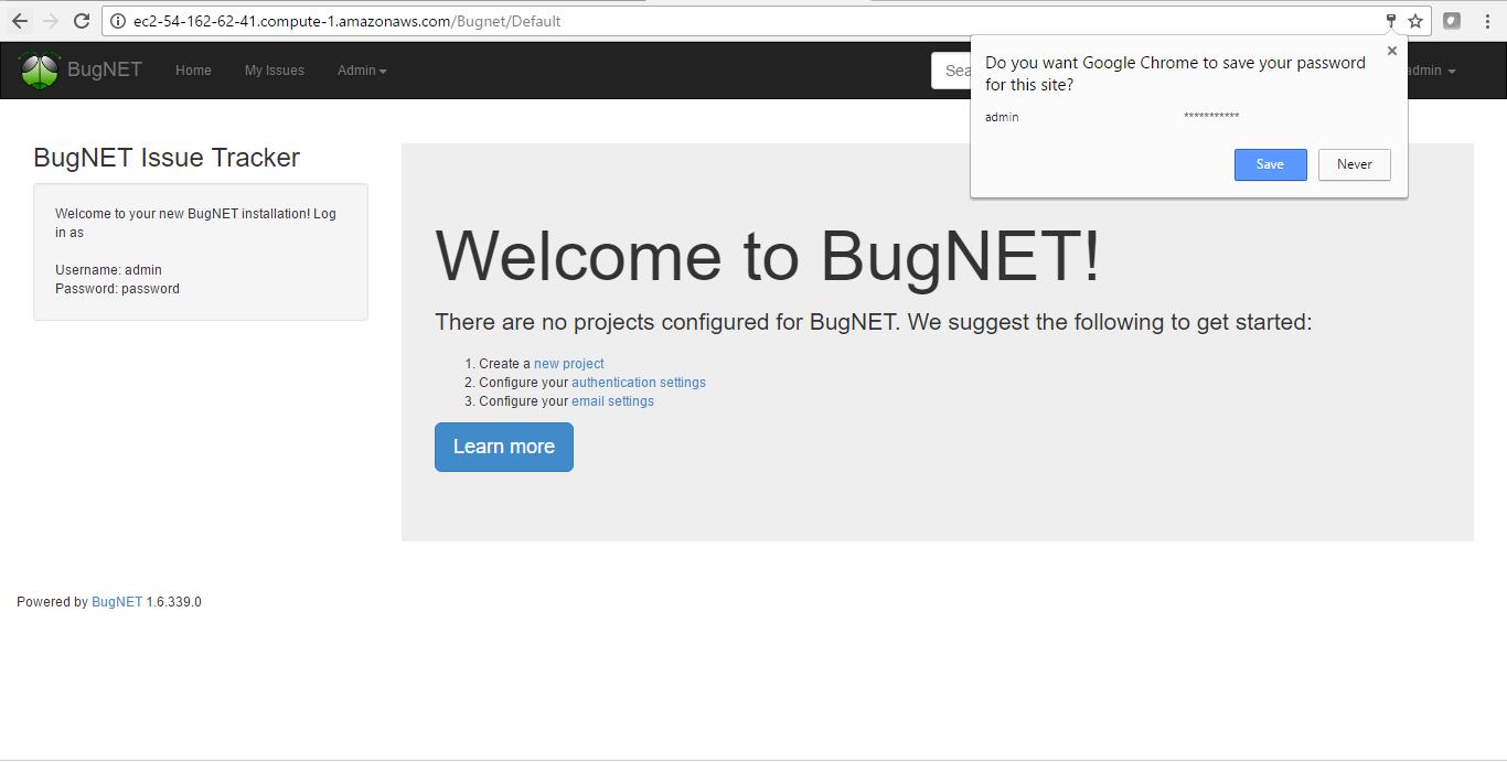 bugnet on cloud on aws azure google cloud