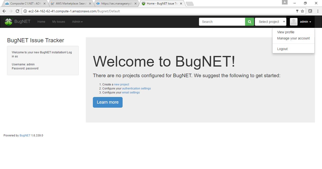 bugnet on cloud