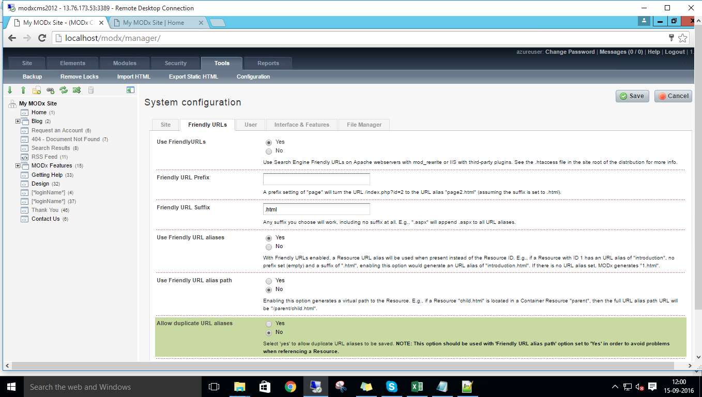 system configuration details