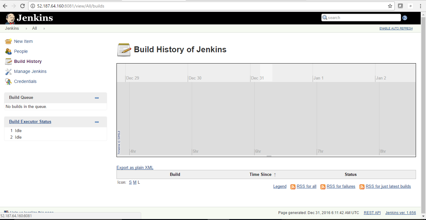 build history to track details of jenkins