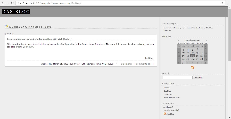 das blog dashboard
