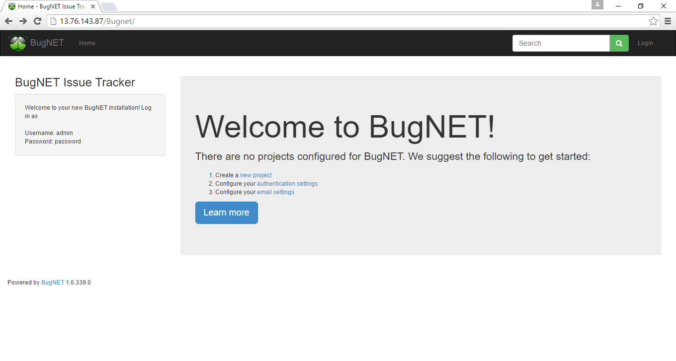 welcome to bugnet