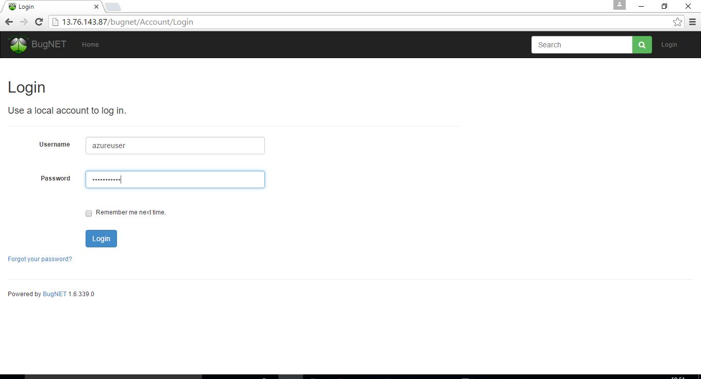 enter login credentials to login