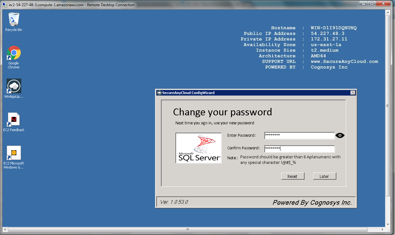 fill your new password and confirm new password